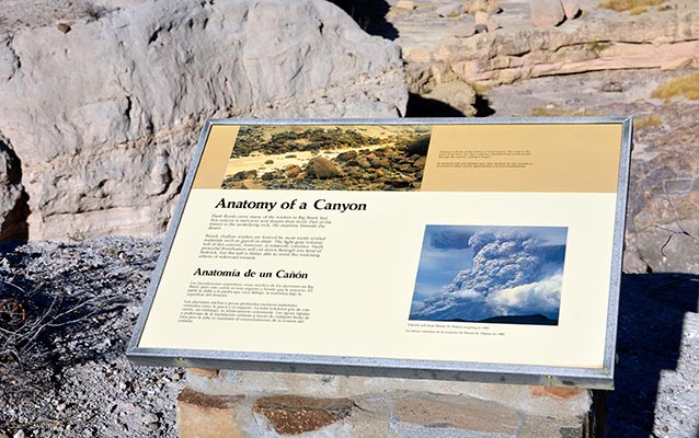 Tuff Canyon Wayside Exhibit