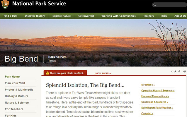 Big Bend on the Web