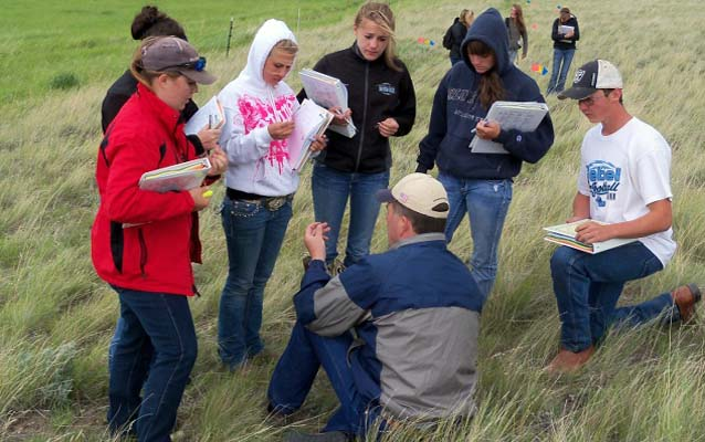 Students learning about rangeland ecology.