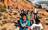 DIA 2nd Graders hiking down the historic Serpents Trail in Colorado National Monument.