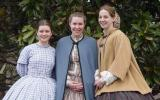 Three High School Interns in period dress