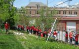 Under Armour employees volunteering at Fort McHenry NM&HS