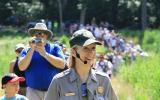 Visitors enjoy a hike with a Ranger