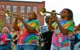 Original Pinettes Brass Band from New Orleans in Lowell, MA.