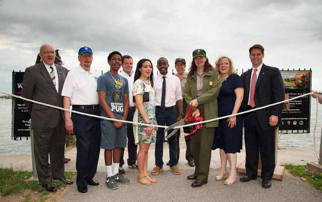 Ribbon Cutting Launching A New Boat Tour at Fort McHenry NMHS