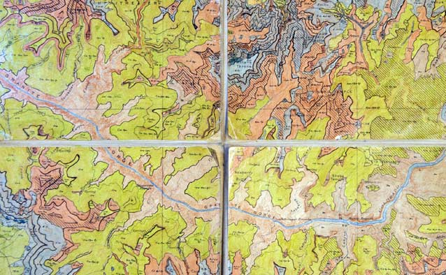 Section of the 1935 vegetation map of Grand Canyon National Park
