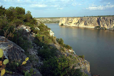 Confluence of the Pecos River and Rio Grande