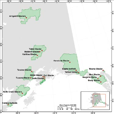 map of south central and southeast alaska