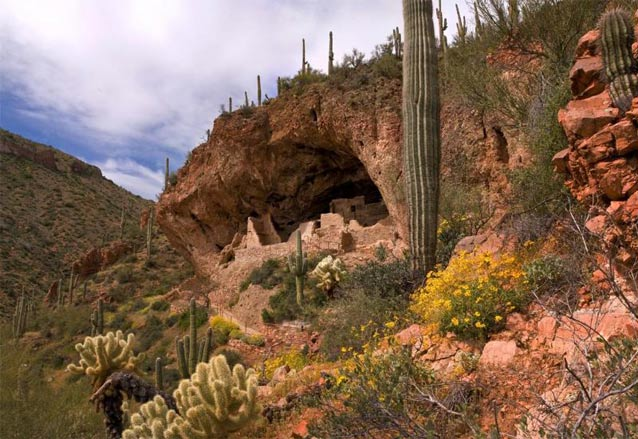 The Lower Cliff Dwellings at Tonto National Monument.