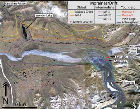 satellite image of mountains and glaciers
