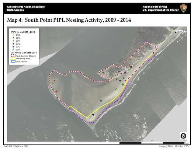 Map 4: South Point PIPL Nesting Activity, 2009–2014