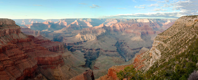 The Grand Canyon is the largest stream valley dissecting the tablelands of the Colorado Plateau