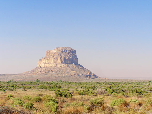 The colorado plateau us national park service hazy fajada butte in chaco culture national monument new mexico publicscrutiny Images