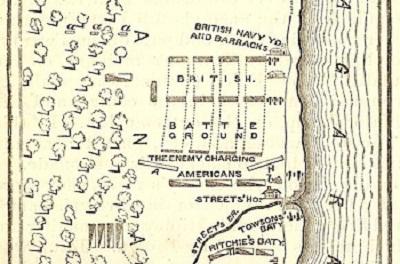 Map Of The Battle Of Chippawa