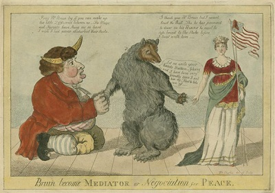 Bear ties to negotiates between John Bull and Columbia