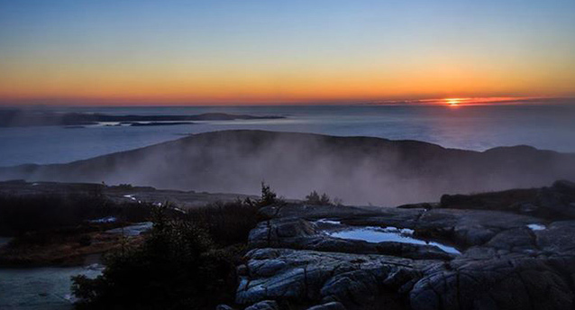 Sunrise over Cadillac Mountain.