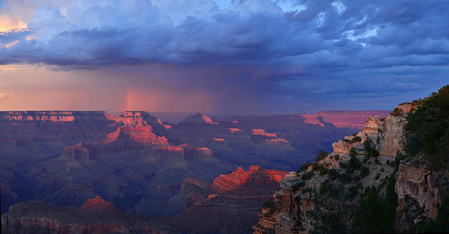 Sunset after rain in Grand Canyon National Park