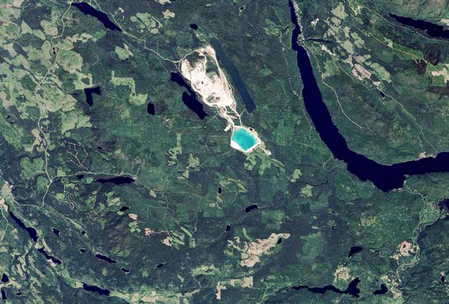 satellite image of lakes and ponds