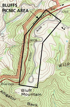 The landscape boundary is indicated by a black outline on a topographic map.
