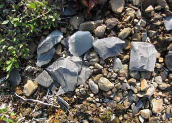 smal angular rocks