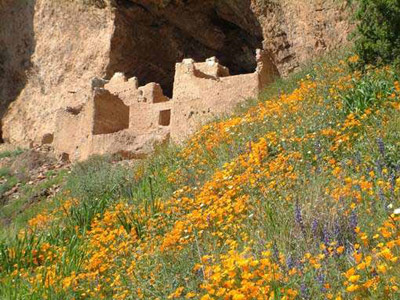 The Upper Cliff Dwelling at Tonto National Monument.