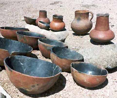 Salado Red Ware vessels from Tonto National Monument.