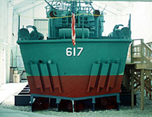 PT Boat 617 went on display at the private non-profit Battleship Cove in Fall River, Massachusetts.