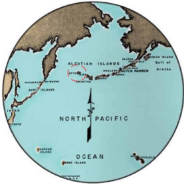 The Battle of Attu: 60 Years Later (U.S. National Park Service) on world map circles, world map oval, world map circuit, world map flipped, world map circular, world map highlighted, world map button, world map shaded, world map outline, world map connected,