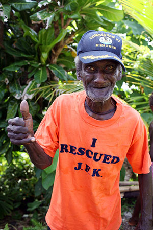 Eroni Kumana, one of two Solomon Islanders who saved the life of John F. Kennedy during World War II