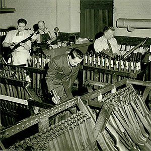 assembly of M1 Garand Rifles during World War II
