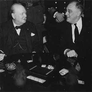 FDR and Churchill in deep discussion