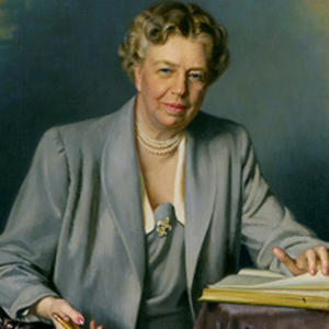 portrait of First Lady Eleanor Roosevelt