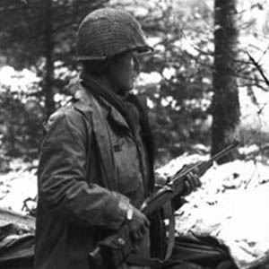 Sergeant Inouye in the Vosges Mountains region of France