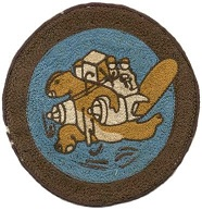 Patch of a beaver carrying people and supplies