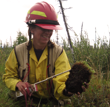 fire ecologist measure the moss layer
