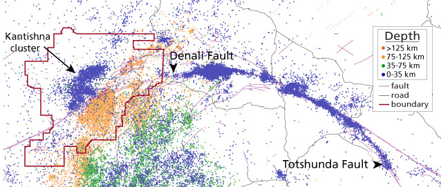 Earthquake Monitoring In Denali Us National Park Service - Us-fault-map