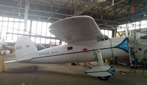 Exterior view of small plane