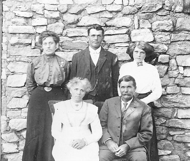 Group portrait of the Erickson family