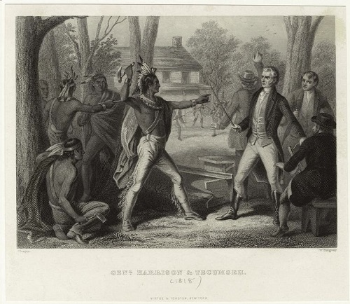 Tecumseh meets William Henry Harrison