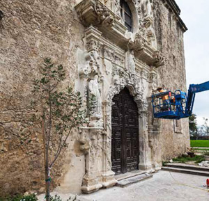 Preservation of the old mission is an ongoing challenge.