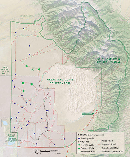 Removal of artesian wells in Great Sand Dunes National Park and
