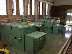 Image of three green generating units