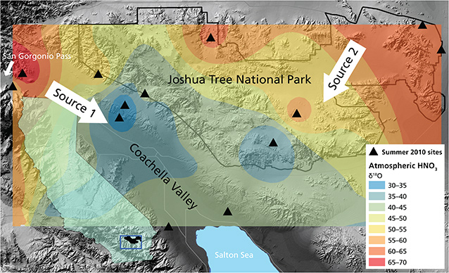 Atmospheric nitrogen deposition across Coachella Valley and Joshua Tree National Park
