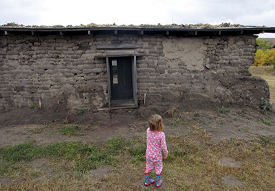 Sod house built from the Kennebec soil, which is very high in soil organic content