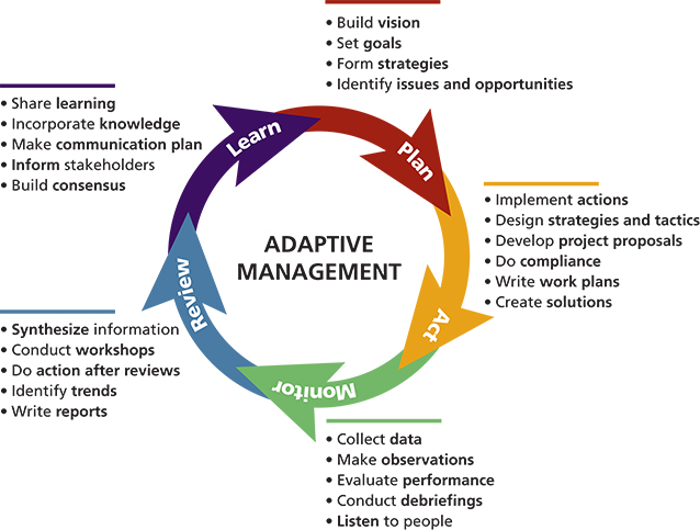 Illustration of the cyclic adaptive management process