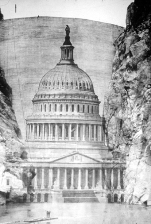 Black and white drawing of the U.S. Capital
