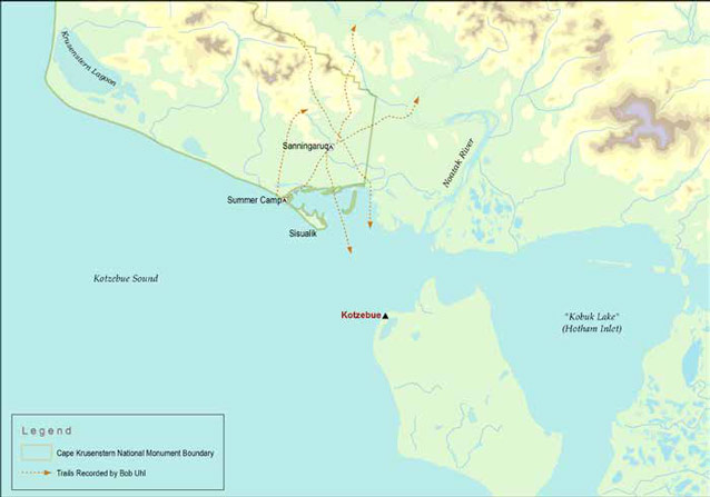 a map of the Kotzebue area