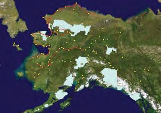 A map of permafrost monitoring sites.