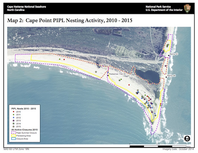Map 2: Cape Point PIPL Nesting Activity, 2010-2015