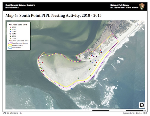 Map 4: South Point PIPL Nesting Activity, 2010-2015